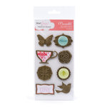 American Crafts - Dear Lizzy Enchanted Collection - Mementos - Metal Embellishments - Charming, CLEARANCE