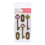 American Crafts - Dear Lizzy Enchanted Collection - Mementos - Metal Embellishments - Prince, CLEARANCE