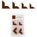 American Crafts - Elements - Metal Photo Corners - Chestnut, CLEARANCE