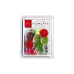 American Crafts - Glitter Buttons - Christmas - Merrymint , CLEARANCE