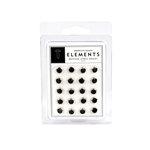 American Crafts - Jewel Brads - Black - Medium, CLEARANCE
