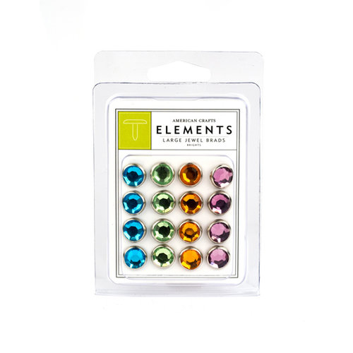 American Crafts - Jewel Brads - Brights - Large, CLEARANCE