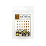 American Crafts - Glitter Brads - Metallics - Medium