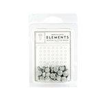 American Crafts - Glitter Brads - White - Medium, CLEARANCE