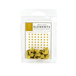 American Crafts - Glitter Brads - Gold - Medium