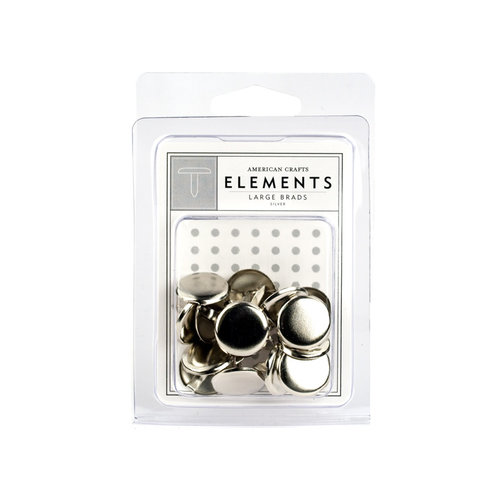 American Crafts - Brads - Silver - Large, CLEARANCE