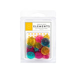 American Crafts - Glitter Buttons - Tropicals, CLEARANCE