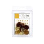 American Crafts - Glitter Buttons - Neutrals