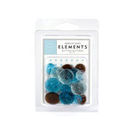 American Crafts - Glitter Buttons - Baby Boy, CLEARANCE