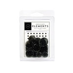 American Crafts - Glitter Buttons - Black, CLEARANCE
