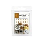 American Crafts - Buttons - Metallic, CLEARANCE