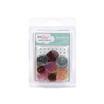 American Crafts - Dear Lizzy Spring Collection - Glitter Buttons - Assorted, CLEARANCE