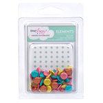 American Crafts - Dear Lizzy Spring Collection - Glitter Brads - Assorted - Medium