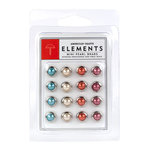 American Crafts - Love Collection - Pearl Brads - Assorted - Mini