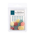 American Crafts - Confetti Collection - Patterned Buttons