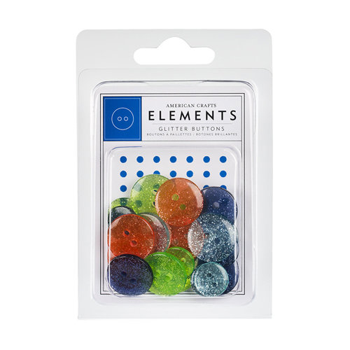 American Crafts - Margarita Collection - Variety Glitter Buttons
