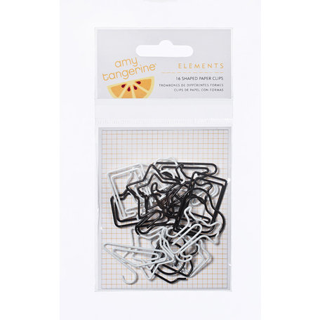 American Crafts - Amy Tangerine Collection - Shaped Paper Clips