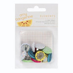 American Crafts - Amy Tangerine Collection - Sketchbook - Fabric Brads