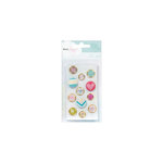 American Crafts - Dear Lizzy 5th and Frolic Collection - Fabric and Epoxy Brads