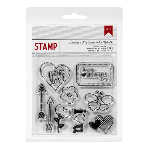 American Crafts Paper - XOXO Collection - Clear Acrylic Stamps