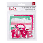 American Crafts Paper - XOXO Collection - Bits - Die Cut Cardstock Pieces - Shapes