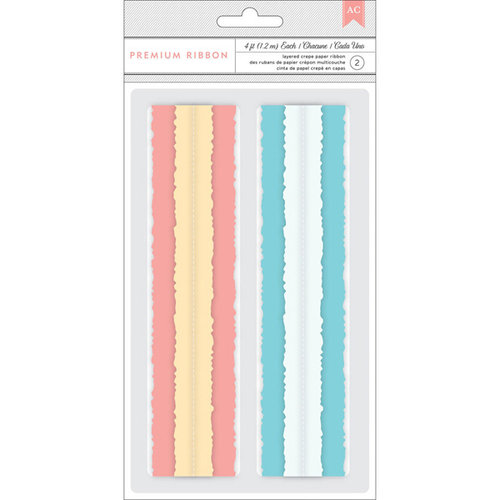 American Crafts - My Girl Collection - Layered Crepe Paper Ribbon