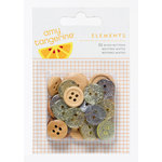 American Crafts - Amy Tangerine Collection - Yes, Please - Mixed Buttons - Personal