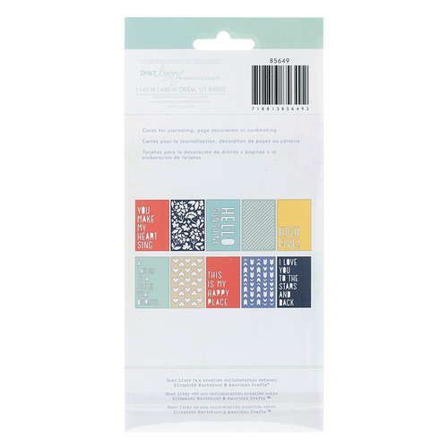 American Crafts - Dear Lizzy Lucky Charm Collection - Die Cut Cards