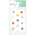 American Crafts - Dear Lizzy Lucky Charm Collection - Adhesive Flowers