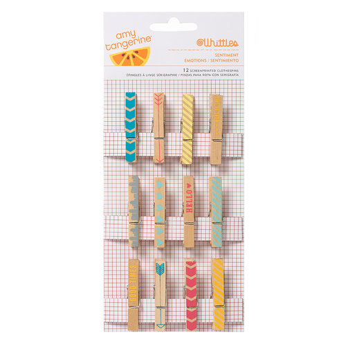 American Crafts - Amy Tangerine Collection - Yes, Please - Clothespins