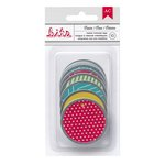 American Crafts - Bits - Metal Rimmed Tags - Basics - Round