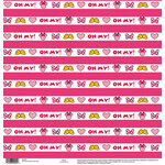EK Success - Disney Collection - 12 x 12 Single Sided Paper - Minnie Oh My Stripe