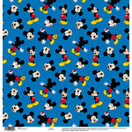 EK Success - Disney Collection - 12 x 12 Single Sided Paper - Mickey Blue
