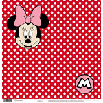 EK Success - Disney Collection - 12 x 12 Single Sided Paper - Minnie Red Dots