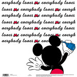 EK Success - Disney Collection - 12 x 12 Single Sided Paper - Everybody Loves Me