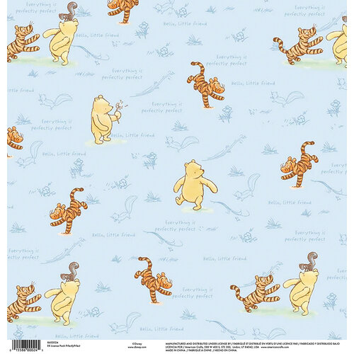 EK Success - Disney Collection - 12 x 12 Single Sided Paper - Pooh Perfectly Perfect