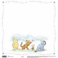 EK Success - Disney Collection - 12 x 12 Single Sided Paper - Pooh Everyday Beautiful