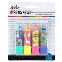 EK Success - Sticko - Erasers - Fantasy Lipstick Erasers - 4 Pack