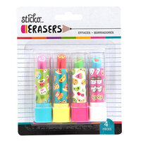 EK Success - Sticko - Erasers - Kawaii Food Lipstick Erasers - 4 Pack