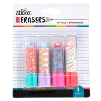 EK Success - Sticko - Erasers - School Lipstick Erasers - 4 Pack