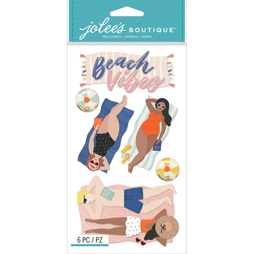 EK Success - Jolee's Boutique -3 Dimensional Stickers - Lounging Beach Vibes