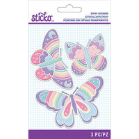 EK Success - Sticko - Epoxy Stickers - Butterfly Rainbow