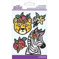 EK Success - Sticko - Epoxy Stickers - Jungle Animals