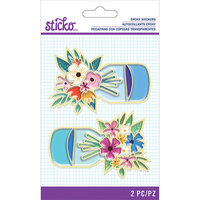 EK Success - Sticko - Epoxy Stickers - Mason Jar Floral
