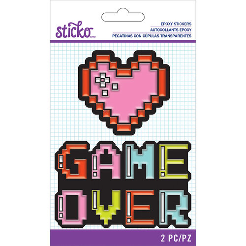 EK Success - Sticko - Epoxy Stickers - Pixel