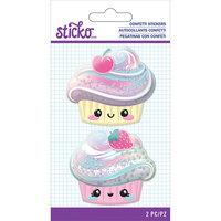 EK Success - Sticko - Confetti Stickers - Cupcake