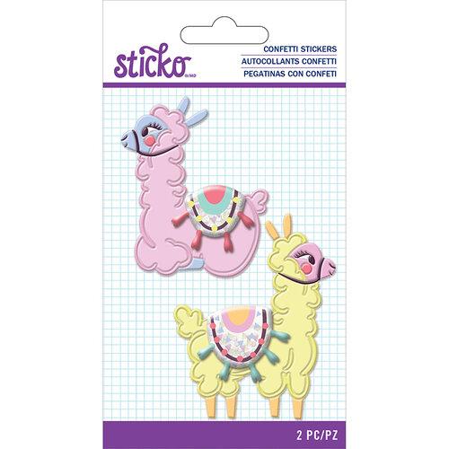 EK Success - Sticko - Confetti Stickers - Llama