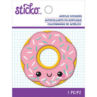 EK Success - Sticko - Puffy Shaker Stickers - Happy Donut
