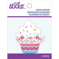 EK Success - Sticko - Puffy Shaker Stickers - Cupcake
