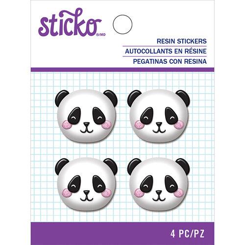 EK Success - Sticko - Resin Stickers - Panda Face